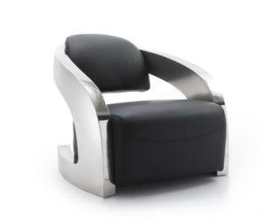 Metal Armrest Living Room Chair, Hotel Chair, Genuine Leather Chair pictures & photos