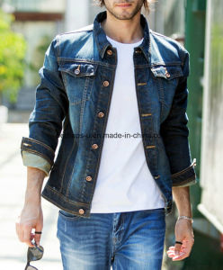 Spring and Autumn Men Slim Retro Denim Jacket pictures & photos