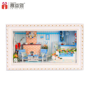 2017 New Arrival Wooden Mini Doll House for Home Decoration pictures & photos