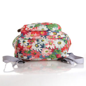 British Floral Waterproof PVC Canvas School Backpack (99042) pictures & photos