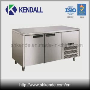 Double Door Stainless Steel Under Counter Commercial Fridge