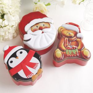 Santa Sets of Tin Penguin Bear Christmas Tin Boxes pictures & photos