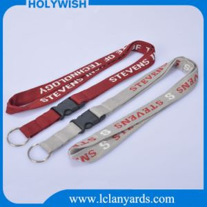 Key Ring Neck Jacquard Strap Event Lanyard with Metal Clasp