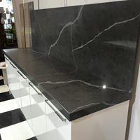 Artificial Black Nero Margiua Quartz Stone Slab for Countertops pictures & photos