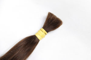 "High Quality 100% Human Hair Extension Bulk Hair Silky Straight 22"" Black Color (HH-HB22B) pictures & photos"