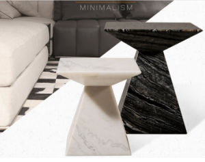 Small Cute Natural Marble Coffee Table Set for Home (TC-090) pictures & photos