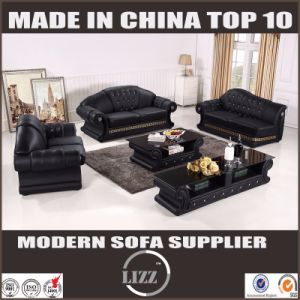 Divany with Table Living Room Genuine Leather Sofa pictures & photos