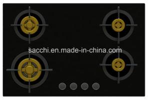 Supreme Unique Four Brass Burner Gas Hob (8mm Glass New) pictures & photos