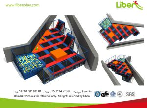 Liben Large Indoor/Outdoor Trampoline Park with Foam Pit and Dodgeball Area pictures & photos