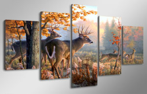 HD Printed Painting of Deer Painting on Canvas Room Decoration Print Poster Picture Canvas Mc-008 pictures & photos
