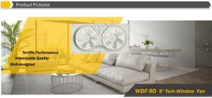 "Popular 9"" Reversible Twin Window Fan with Remote Control pictures & photos"