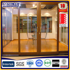 Aluwood Aluminium Patio Sliding and Lift Door with Laminated Glass and Sliding Screen pictures & photos