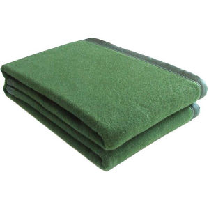 High Quality Wool Blanket in Milatry Green pictures & photos