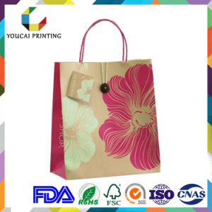 Coated Water Resistance Graceful Ladies Paper Tote Bag with Printing pictures & photos