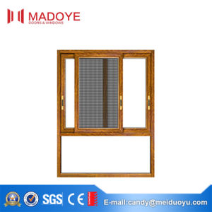Soundproof Aluminium Sliding Window with Fly Screen pictures & photos
