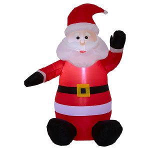 Fabric Christmas Holiday Garden Decoration Inflatable Santa Claus pictures & photos