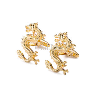 New Cufflink Gold Plated Drgon Style Cuff Links 211 pictures & photos