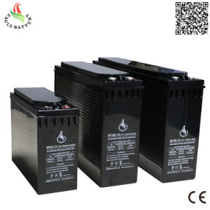 Front Terminal 12V 100ah AGM Rechargeable Lead Acid Battery pictures & photos