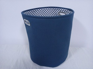 Canvas Round Laundry Hamper with 2 Metal Handles and EVA Inside