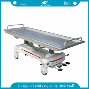 AG-HS012 Hospital Hydraulic Embalming Table Mortuary Stretcher pictures & photos