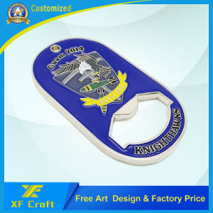Manufacturer Custom Metal Dog Tag Shape Bottle Opener Souvenir Coin with Low Price (XF-CO11) pictures & photos