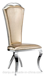 Colorful PU Stainless Steel Furniture Simple Banquet Chair (B809) pictures & photos