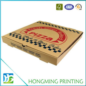 Custom Logo Printed Corrugated Craft Pizza Box pictures & photos