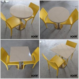 Kfc/Mcdonald Acrylic Solid Surface Round Dining Table pictures & photos