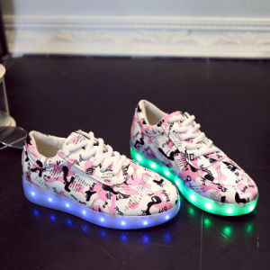 Children LED Light Shoes USB Charging Light Colorful Summer Dance Shoes and Light Dancing Shoes pictures & photos
