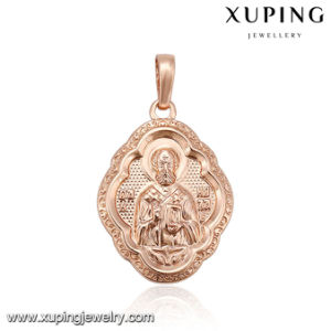 33060 Latest Jewelry Rose Gold Plated Cross Ukraine Design Pendant pictures & photos