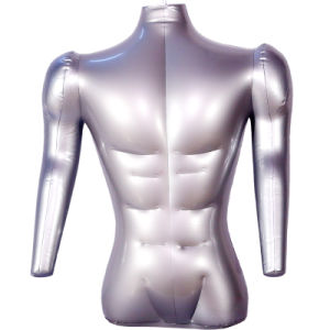 Male Half-Body Model Without Head with Arm PVC Inflatable Air Strang Dress Mannequins pictures & photos