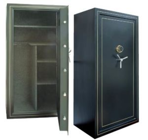 18 Rifle Fire Resistant Gun Safe Steel Fireproof Gun Storage Cabinet with High Security Mechanical Code Lock 3 Spoke Handle pictures & photos