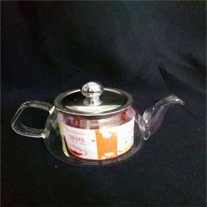 200ml Handblown Heat-Resisting Glass Tea Pot with Ce
