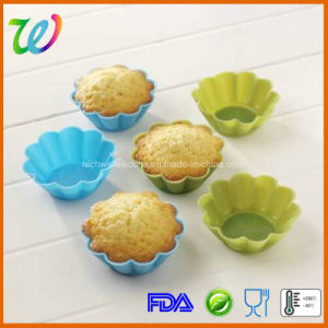 Eco-Friendly Colorful Flower Shape Silicone Cupcake Moulds