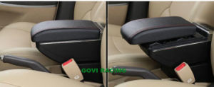 Car Storage Console Box Armrest with LED Light & USB pictures & photos