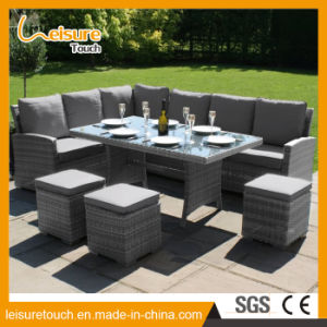 Garden Patio Leisure Furniture Lounge Wicker Rattan Long Sofa Set pictures & photos