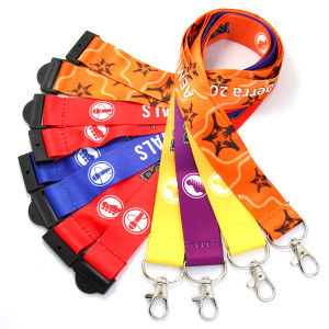 Promotion Colourful Printed Neck Polyester Nylon Lanyard pictures & photos
