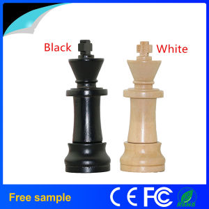 Free Sample 8GB Natural Wood Chinese Chess USB Flash Drive