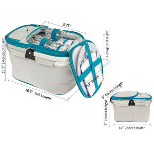 Outdoor Picnic Basket with cutlery Sets pictures & photos