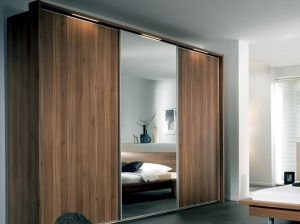 Wooden Furniture Wardrobe with Mirror pictures & photos