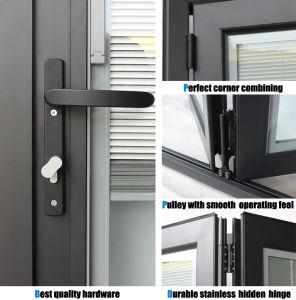 Double Glass Customized Size Aluminium Casement Door