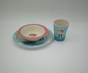 SGS Approved Natural Bamboo Fiber Dinner Set for Kids (YK-KS005) pictures & photos