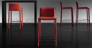 Modern PU Leather High Quality White Bar Stool Chair (NK-DCA033-1) pictures & photos