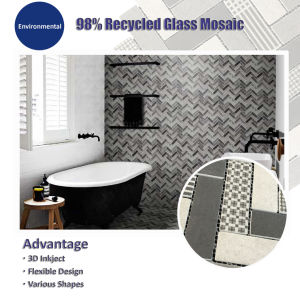 Fabric Design, Inkjet Printing Recycled Glass Mosaic (V639001) pictures & photos