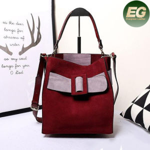 Color Collision Designer Handbags Trendy Brand Leather Women Tote Bag Emg4852 pictures & photos