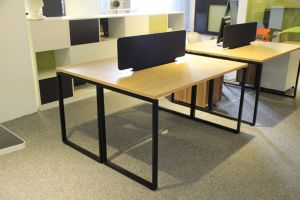 Modern Office Metal Table 2 People Workstation
