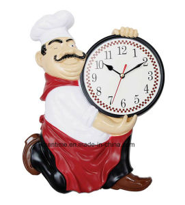 Hot Selling Funny Cook Fashionable Wholesale Wall Clock pictures & photos