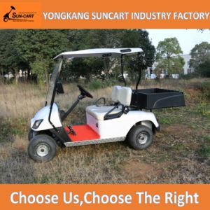 Electric Utility Golf Cart, 2 Seater Golf Cart with Rear Cargo Box, Suncart Golf Car Mini Small Cabin pictures & photos