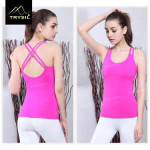 Sexy Backless Vests Yoga Tank Tops Gym Stringer for Ladies/Women pictures & photos