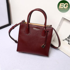 New Style Office Lady Leather Bags 100% Genuine Leather Handbag Fashion Emg4860 pictures & photos